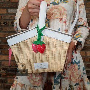 Kate Spade Picnic In Park Basket Strawberry CREAM
